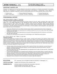 Professional Background Resume Examples by Assistant Controller Resume Example With Professional History And