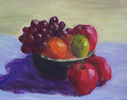 Bowl Of Fruits Ann Phifer Reyes Bowl Of Fruit Acrylic On Canvas Board 11x14