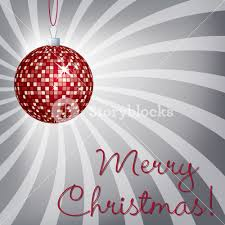 mirror ball merry christmas card in vector format royalty free