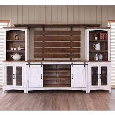 international furniture direct pueblo wall unit with distressed