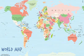 map of th world world map poster by mapsofworld