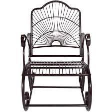 White Rocking Chair Outdoor by Bcp Patio Iron Scroll Porch Rocker Rocking Chair Outdoor Deck Seat