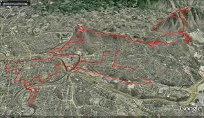 Boston Marathon Course Map by Running Down February 2011