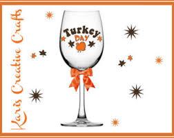 turkey wine glass etsy
