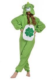 amazon com newcosplay polar fleece unisex green bear pajamas