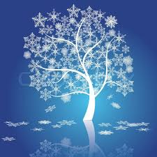 snow tree vector stock vector colourbox