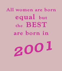 best women are born in 2001 16th birthday t shirt bday