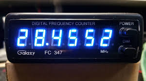 Radio Frequency Display Galaxy Cb Ham 10 Meter Radio 6 Digit Frequency Counter Blue
