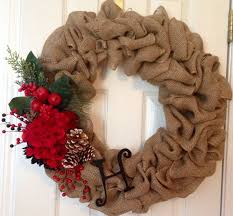 burlap christmas wreath burlap christmas wreath festival collections