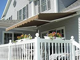 Sun Awnings For Decks Amazon Com Xtremepowerus Patio Manual Retractable Sun Shade