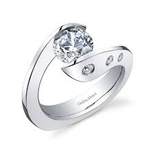 engagement rings for women gorgeous and interesting contemporary tension set wedding rings