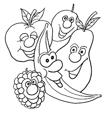 banana face coloring page fruits free download bananas
