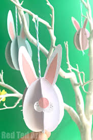 Cheap Easter Decorations Uk by Easy Paper Bunny Craft Bunny Easter Decorations Red Ted Art U0027s Blog