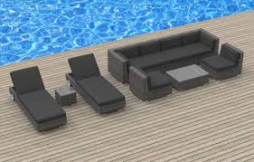 Modern Wicker Patio Furniture by Furnishing Ibiza 10pc Outdoor Sectional Sofa Set