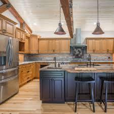 blue kitchen island with oak cabinets home cabinet westbury cinnamon maple cabinets and espresso