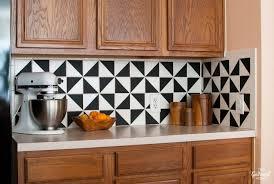 DIY Black And White Vinyl Backsplash The Gathered Home - Vinyl kitchen backsplash