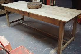 Table En Caisse En Bois Ancienne Table D U0027atelier Bois Brut Par Le Marchand D U0027oublis
