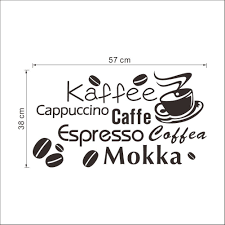 coffee kaffe vinyl wall art sticker quote wall stickers kitchen coffee kaffe vinyl wall art sticker quote wall stickers kitchen wall home mural what s it worth