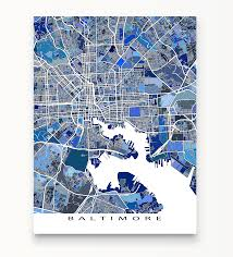Map Of Baltimore Md Baltimore Map Print Maryland Usa Maps As Art Beauteous Of To