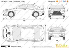 2007 mitsubishi lancer evolution x the blueprints com vector drawing mitsubishi lancer evolution x