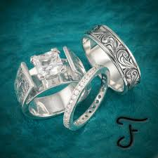 western style wedding rings wedding sets western inspired handcrafted jewelry