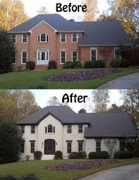 make trim blend in with roof color love painted brick so want
