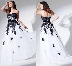 white and black wedding dresses lace black and white wedding
