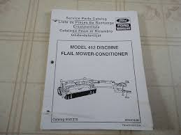 new holland 412 discbine flail mower conditioner parts catalog