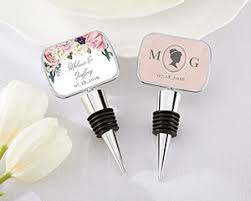 wine stopper wedding favors personalized garden bottle stopper with epoxy dome my
