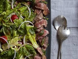 flatiron steak salad with thai dressing recipe sang yoon food
