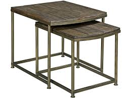 Nesting Desk Hammary Leone Nesting End Table In Weathered Barn And Antique