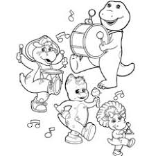 10 free printable barney coloring pages