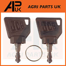 Ignition Parts Uk New Jcb 3cx Ignition Key Pair 2pc For Switch Starter Jcb Parts