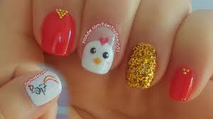 chinese new year nail art 2017 chicken rooster nail art youtube