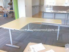 Galant Office Desk Ikea Bekant Office Desk Galant File Cabinet And Storage Assembled