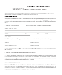 dj contract download free dj contract form template 6 dj
