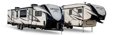 travel trailer with garage denali travel trailers u0026 fifth wheels
