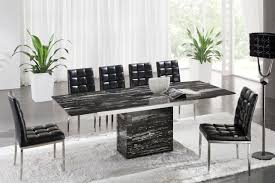 Black Glass Extending Dining Table 6 Chairs 6 Seater Glass Dining Table Siena Sets The Furniture Shop O