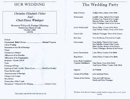 Example Of Wedding Program 100 Sample Of A Wedding Program 100 Free Table Numbers For
