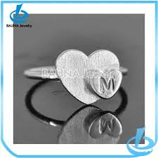 trending sale pure silver plating fashion letter m design wedding
