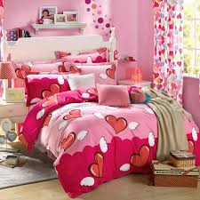 Bedding Sets For Girls Print by Cotton Bedspread Red Heart Printed Bedding Sets For Girls 100