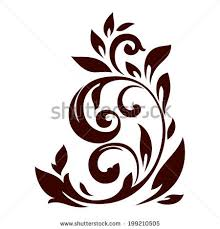 vector illustration floral ornament design stock vector 245631664