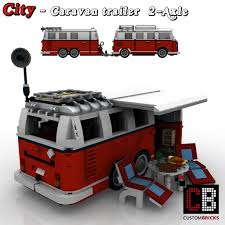 custom volkswagen bus custombricks de lego city trailer wohnwagen camper vw t1 bus 10220