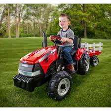 peg perego case ih magnum tractor and trailer 12 volt battery