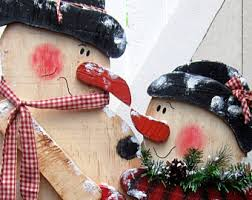 Snowman Lawn Decorations Outdoor Christmas Decorations Etsy