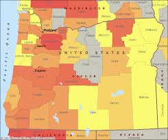 map of oregon with counties reports for oregon