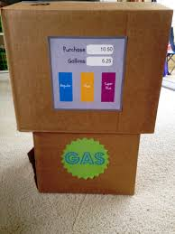how to make a cardboard box car u0026 gas pump redefined living