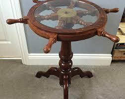 Nautical Side Table Seaside Vintage Side Table