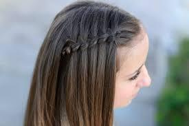 create a 4 strand waterfall braid cute girls hairstyles