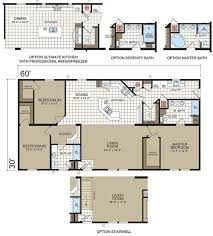 triple wide mobile home floor plans russell from clayton homes